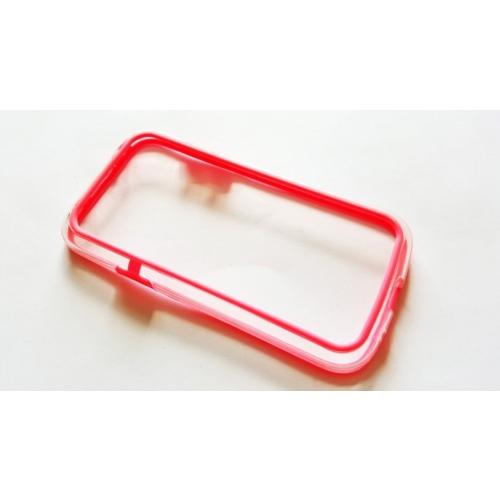 Mobillife Samsung Galaxy S4 Mini Pembe Kenar Bumper Silikon Çerçeve
