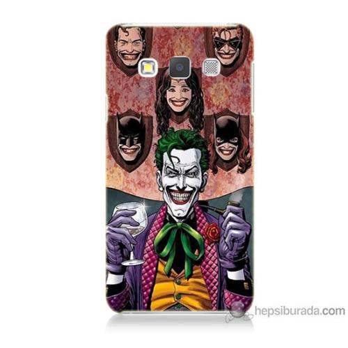 Bordo Samsung Galaxy A7 Joker Keyfi Baskılı Silikon Kapak Kılıf