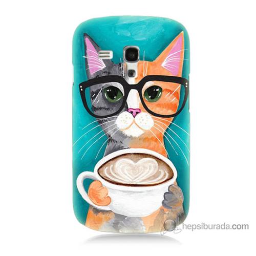 Bordo Samsung Galaxy S3 Mini Kahve Keyfi Baskılı Silikon Kapak Kılıf