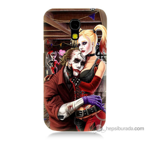 Bordo Samsung Galaxy S4 Mini Joker Ask Baskılı Silikon Kapak Kılıf