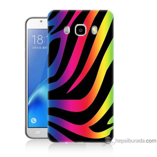 Bordo Samsung Galaxy J5 2016 Renk Cümbüşü Baskılı Silikon Kapak Kılıf