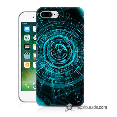 Teknomeg iPhone 7 Plus Kapak Kılıf Asit Baskılı Silikon