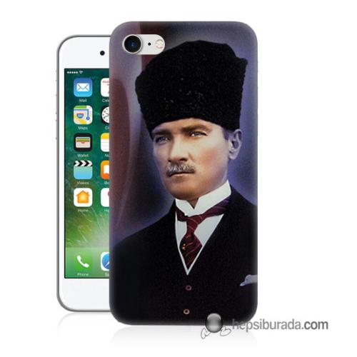 Teknomeg iPhone 7 Kılıf Kapak Mustafa Kemal Atatürk Baskılı Silikon