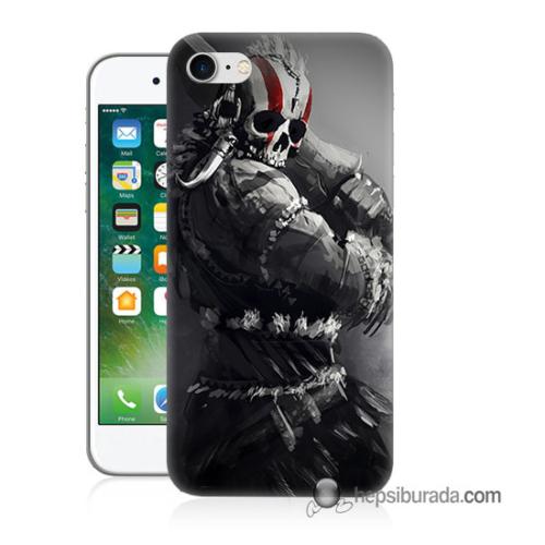 Teknomeg iPhone 7 Kılıf Kapak Tribal Warrior Baskılı Silikon