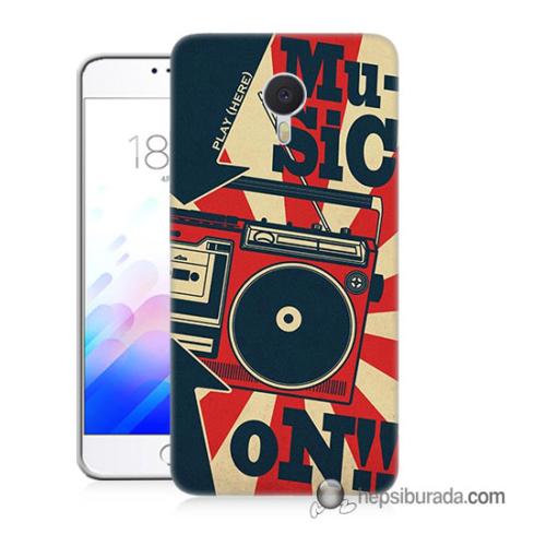 Teknomeg Meizu M3 Note Kapak Kılıf Müzik Baskılı Silikon