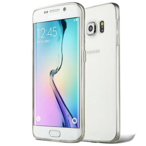 CaseUp Samsung Galaxy S6 Edge clear Soft Şeffaf kılıf Kırılmaz Cam