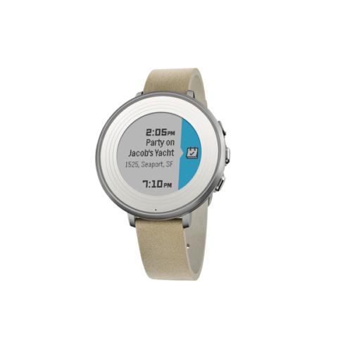 Pebble Time Round Akıllı Saat Gümüş/Taş 14 mm