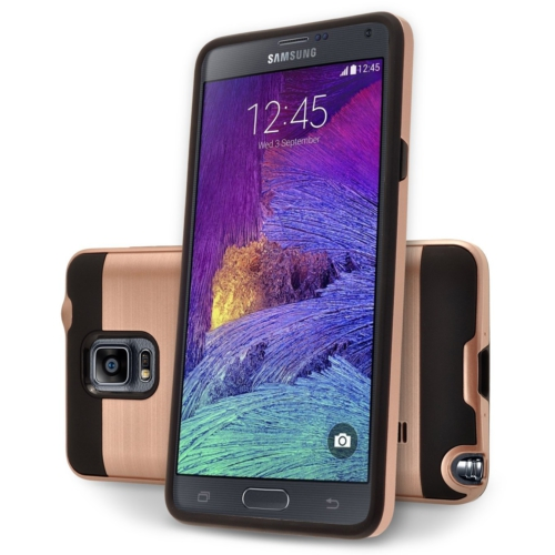 Case 4U Samsung Galaxy Note 4 Verus Korumalı Kapak Rose Gold
