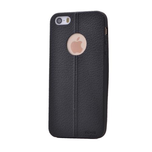 Case 4U Apple İphone 5 Desenli Silikon Kılıf Siyah
