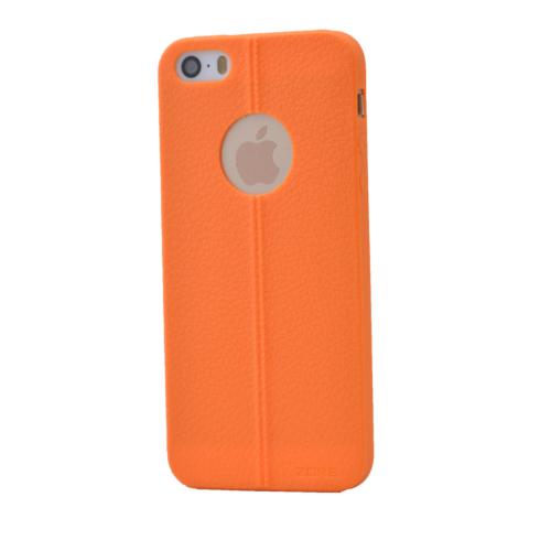 Case 4U Apple İphone 5S Desenli Silikon Kılıf Turuncu