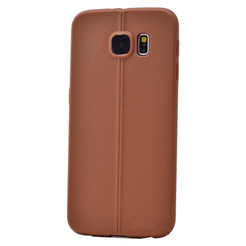 Case 4U Samsung Galaxy S6 Desenli Silikon Kılıf Kahve