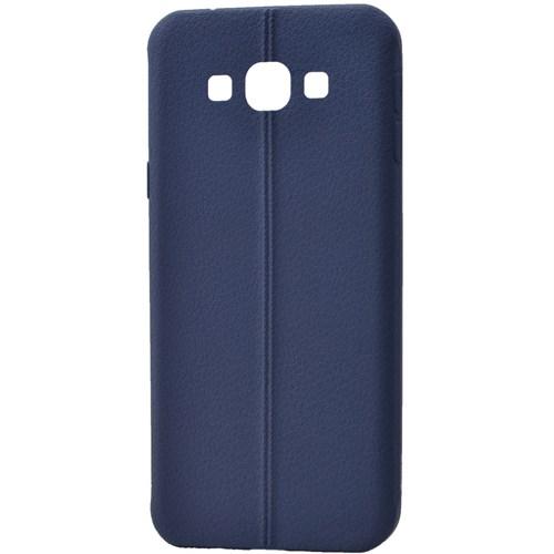 Lopard Samsung Galaxy On7 (17) Kılıf Ribbon İnce Silikon Arka Kapak Lacivert