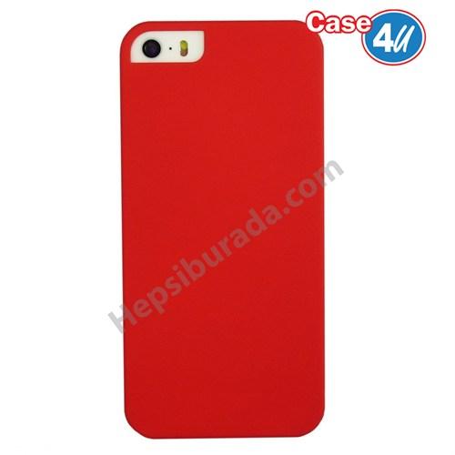 Case 4U Apple İphone 5S Sert Arka Kapak Kırmızı