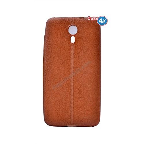 Case 4U General Mobile 4G Andorid One Parlak Desenli Silikon Kılıf Kahverengi
