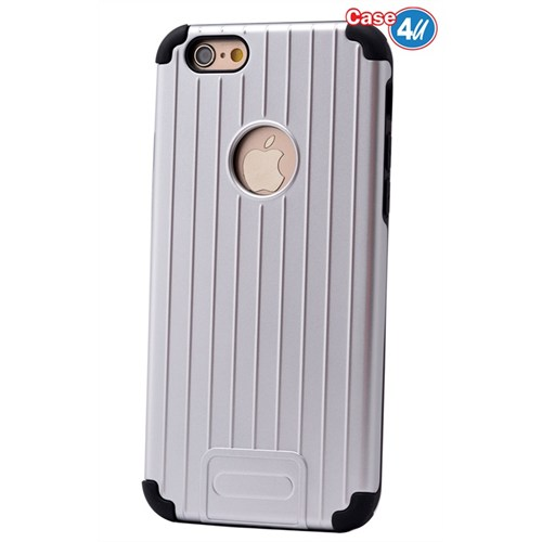 Case 4U Apple İphone 6S Plus Verse Korumalı Kapak Gümüş