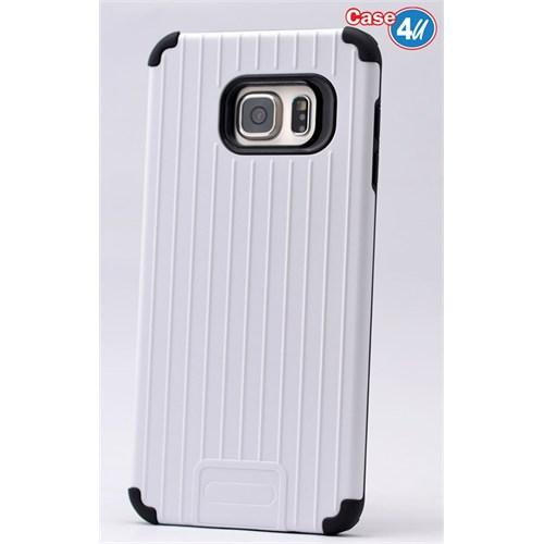 Case 4U Samsung Galaxy S6 Edge Plus Verse Korumalı Kapak Beyaz