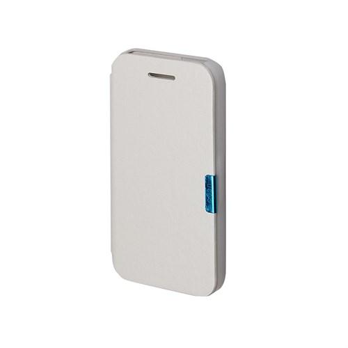 Inovaxis Apple iPhone 5/5S Penceresiz Flip Cover Kılıf Kapak Beyaz