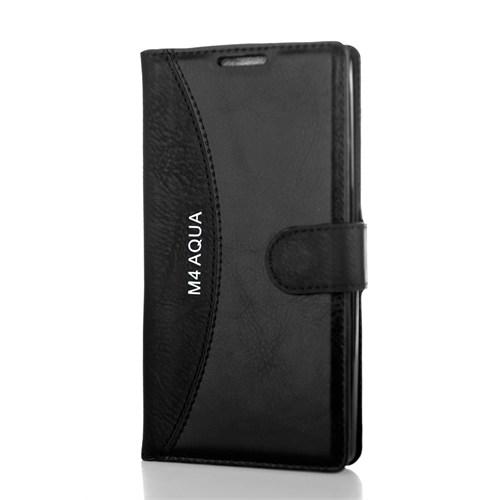 CoverZone Sony Xperia M4 Aqua Kılıf Cüzdan Kapaklı