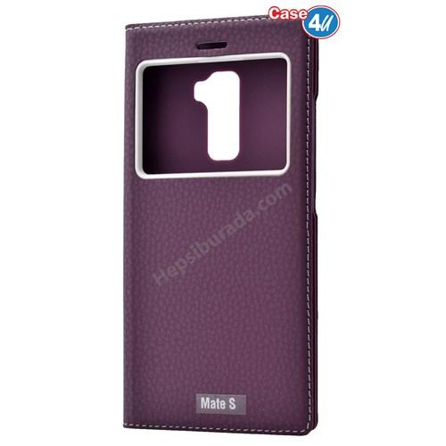 Case 4U Huawei Mate S Dolce Kapaklı Kılıf Mor