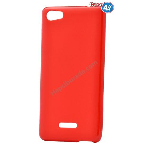 Case 4U Casper Via M1 Soft Silikon Kılıf Kırmızı*