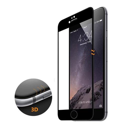 Microsonic İphone 6S 3D Kavisli Temperli Cam Full Ekran Koruyucu Kırılmaz Film Siyah