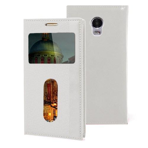 Microsonic Lenovo Vibe P1 Kılıf Gizli Mıknatıslı View Delux Beyaz