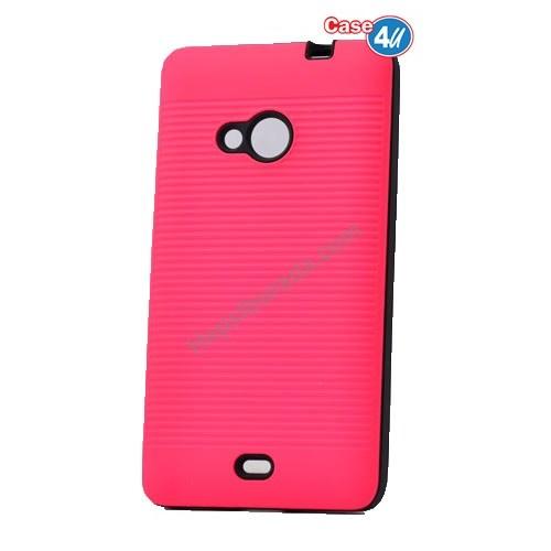 Case 4U Microsoft Lumia 535 You Koruyucu Kapak Pembe