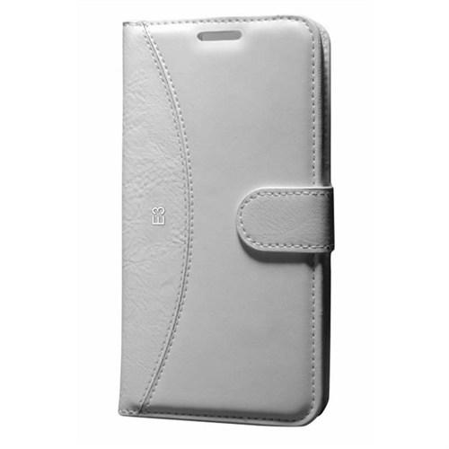 Cep Market Sony Xperia E3 Kılıf Standlı Cüzdan (Beyaz)