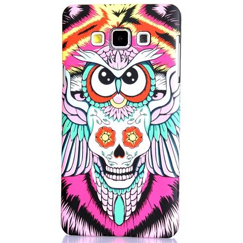 CoverZone Samsung Galaxy A7 2015 Kılıf Resimli Arka Kapak Night Owl