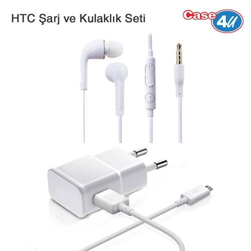Case 4U HTC Şarj ve Kulaklık Seti