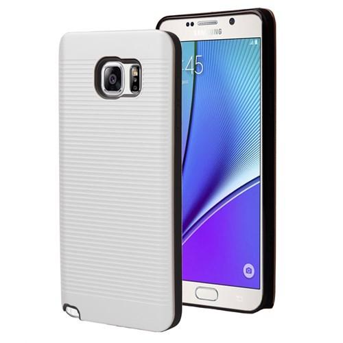 Microsonic Samsung Galaxy Note 5 Kılıf Linie Anti-Shock Beyaz