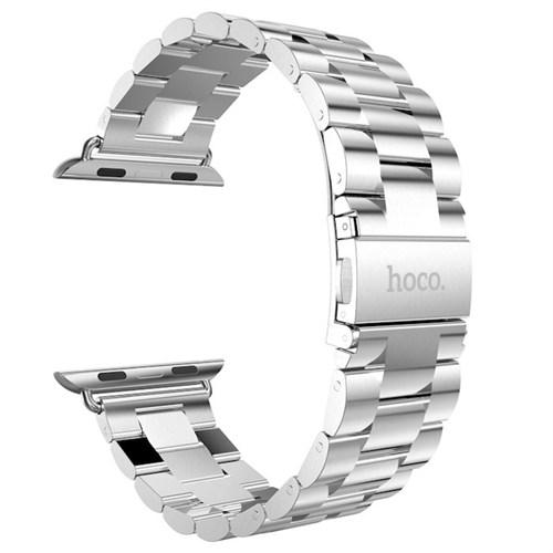 Hoco Apple Watch 42 Mm 3 Bakla Kayış Paslanmaz Çelik Gümüş Gri