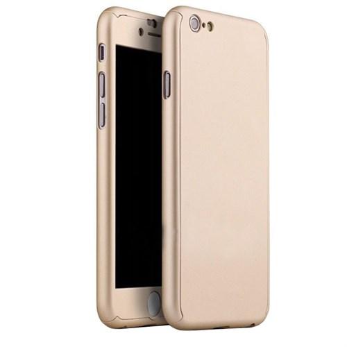 Cep Market Apple İphone 6/6S Plus Kılıf 360 Derece Full Body Mika Kılıf - Gold