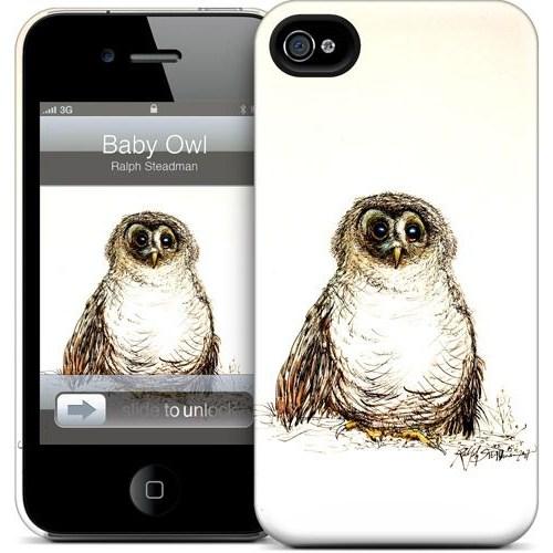 Gelaskins Apple iPhone 4 Hardcase Kılıf Baby Owl