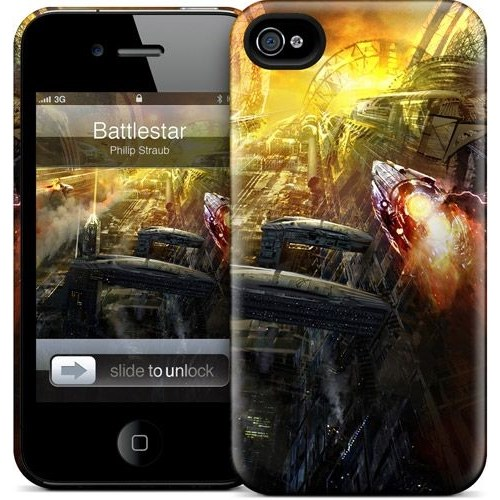 Gelaskins Apple iPhone 4 Hardcase Kılıf Battlestar