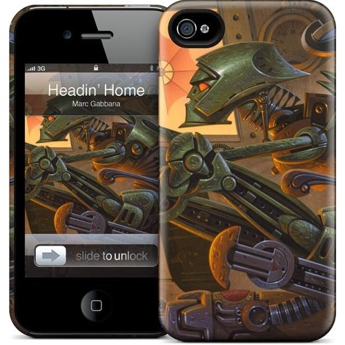 Gelaskins Apple iPhone 4 Hardcase Kılıf Headin' Home To Hades