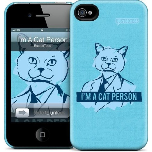 Gelaskins Apple iPhone 4 Hardcase Kılıf Im A Cat Person