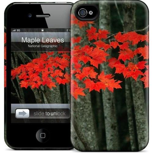 Gelaskins Apple iPhone 4 Hardcase Kılıf Maple Leaves