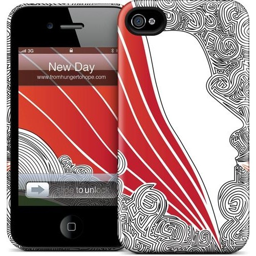 Gelaskins Apple iPhone 4 Hardcase Kılıf New Day