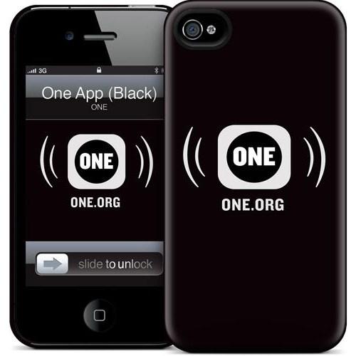 Gelaskins Apple iPhone 4 Hardcase Kılıf One App (Black)