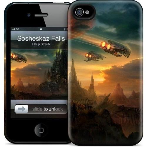 Gelaskins Apple iPhone 4 Hardcase Kılıf Sosheskaz Falls