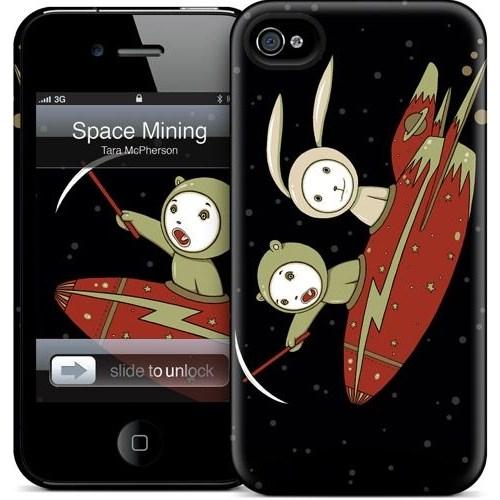 Gelaskins Apple iPhone 4 Hardcase Kılıf Space Mining