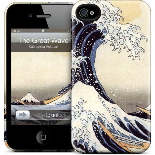 Gelaskins Apple iPhone 4 Hardcase Kılıf The Great Wave