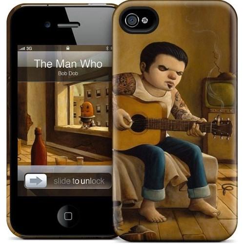 Gelaskins Apple iPhone 4 Hardcase Kılıf The Man Who Laughs