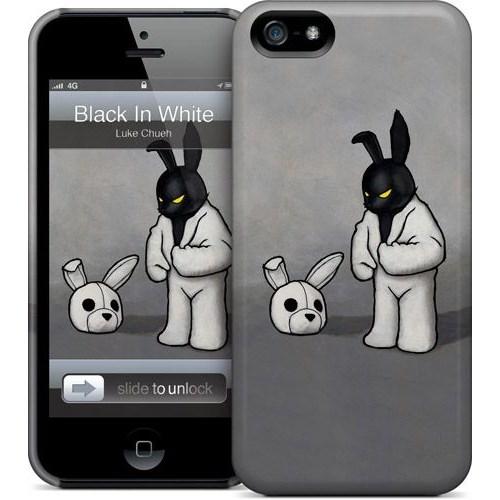 Gelaskins Apple iPhone 5 Hardcase Kılıf Black In White