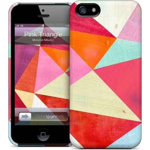 Gelaskins Apple iPhone 5 Hardcase Kılıf Pink Triangle