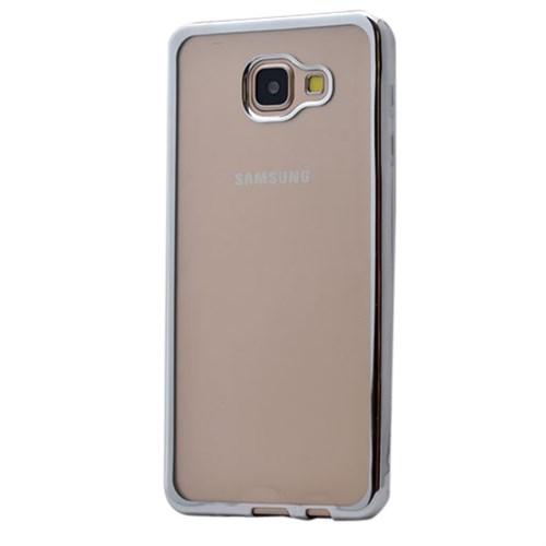 Cep Market Samsung Galaxy A3 2016 Kılıf A310 Silikon Lazer - Gümüş