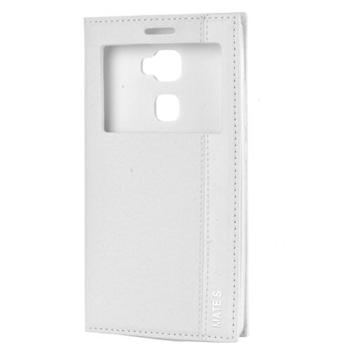 Cep Market Huawei Mate S Kılıf Pencereli Kapaklı Magnum - Beyaz