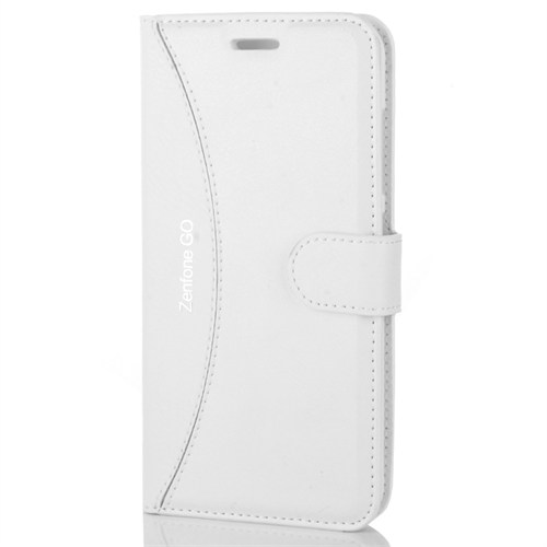 Cep Market Asus Zenfone Go Kılıf - Zc500tg Kapaklı Cüzdan Kartvizitli - Beyaz