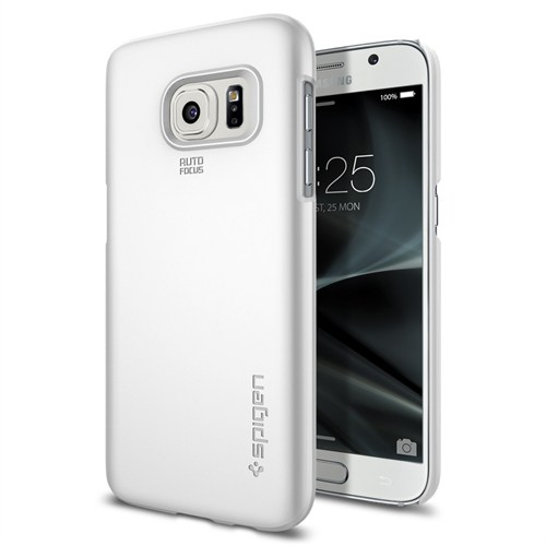 Spigen Galaxy S7 Kılıf Thin Fit Ultra İnce Shimmery White - 555CS20004
